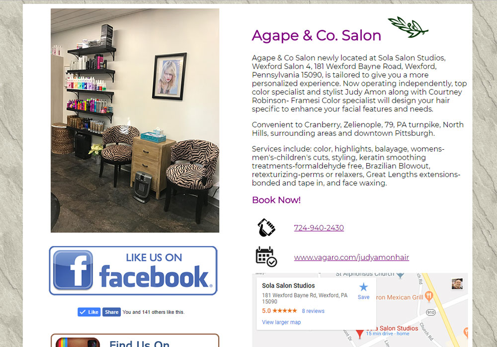 Agape Co Salon
